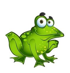 happy green frog vector image
