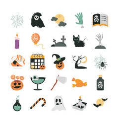 happy halloween trick or treat party celebration vector image