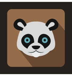 Head of panda icon in flat style vector image