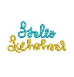 Hello summer creative hand drawn lettering in vector