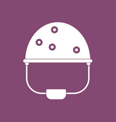 icon helmet with bullet holes vector image