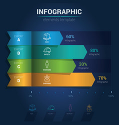 infographic elements - simple bar chart vector image