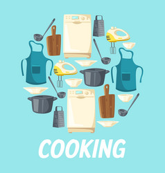kitchen appliance cooking kitchenware utensils vector image