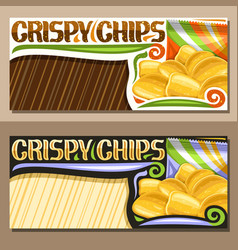 layouts for crispy potato chips vector image