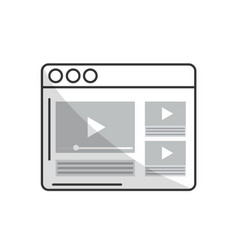 line website with important videos information vector image