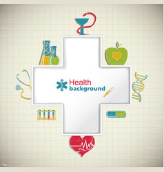 Medical paper background vector