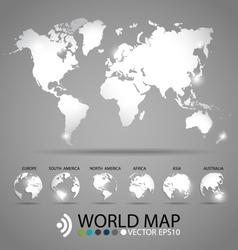 Modern world map design vector