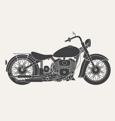 Motorbike isolated on white background vector