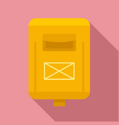 Newsletter mailbox icon flat style vector