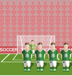 Northern Ireland Soccer Club Penalty on a Stadium vector image