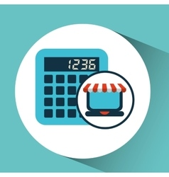 online shopping concept calculator icon vector image