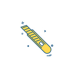 paper cutter icon design vector image