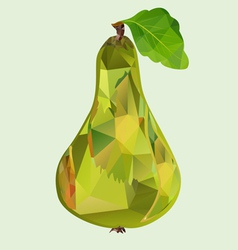 pear green polygon vector image