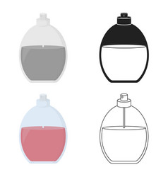 Perfume icon in cartoon style isolated on white vector