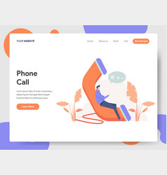 Phone call concept vector