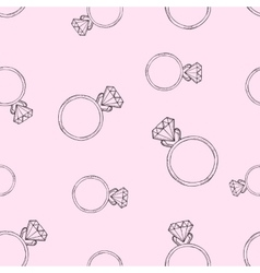 Pink pattern from the diamond ring vector