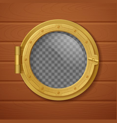 Porthole realistic composition vector