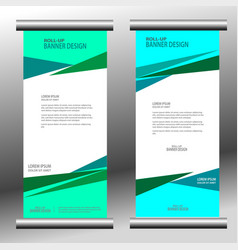 roll up banner 029 vector image