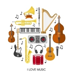 Round Music Composition vector image vector image