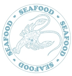 Seafood stamp with cancer vector image vector image