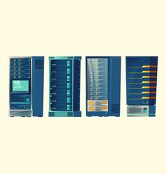 server racks database room data center vector image
