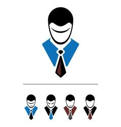 set of cartoon office worker vector image