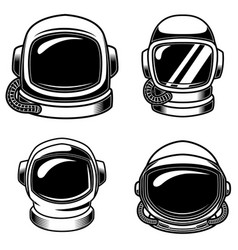 set of spaceman helmets design elements for logo vector image