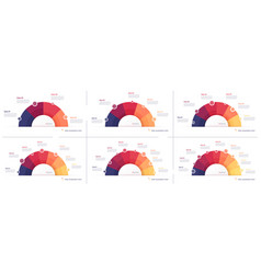 Set pie chart infographic templates in vector