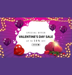 special offer valentines sale up to 50 off vector image