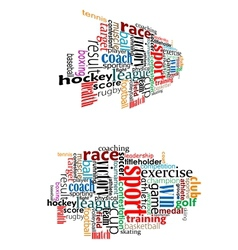 Sport tag cloud vector image