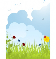 spring background 01112 vector image