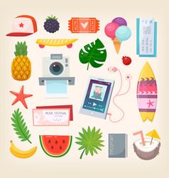 summer season vector image