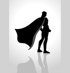 superhero from back view vector image