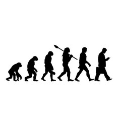 theory of evolution of man silhouette vector image
