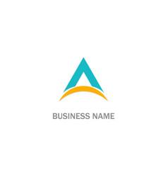 triangle a company logo vector image