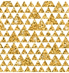Triangle seamless pattern white and gold 1 vector