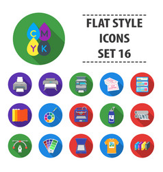 Typography set icons in flat style big collection vector