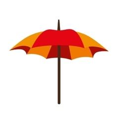 Umbrella parasol open striped icon vector
