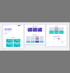 Website template page business background vector