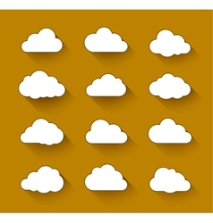 White clouds with long shadow vector
