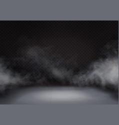 white fog or smoke on dark background vector image