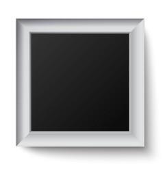 White wooden square frame vector