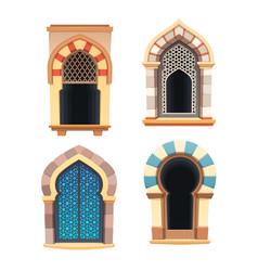Windows arabian castle or fortress interior vector