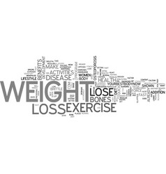 women s health and weight loss tip lose weight to vector image