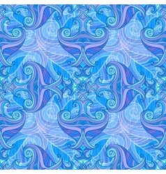 Blue and violet waves seamless background vector image
