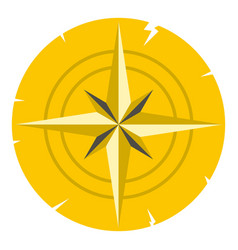gold ancient compass icon isolated vector image