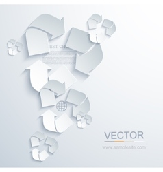 modern recycle background vector image