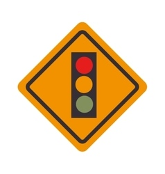 sign traffic light road isolated vector image