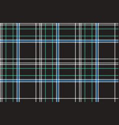 Black check plaid fabric texture seamless pattern vector