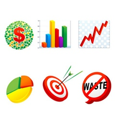 business symbol vector image vector image
